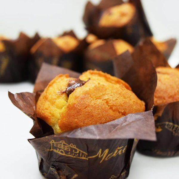 Magdalenas rellenas de chocolate