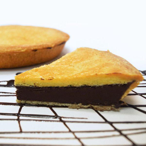 Pastel Vasco de crema de cacao